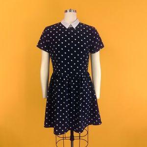 Polka Dot Collar Dress Clara Oswald - River Island